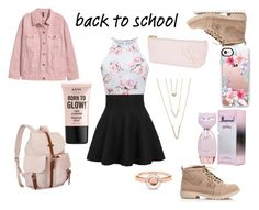 """""""cute in pink."""" by whitewinterlace on Polyvore featuring Herschel Supply Co., Casetify, SHAN, Marie Mas and NYX"""