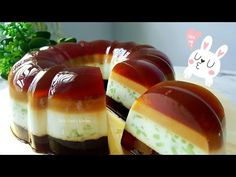 """""""Kokosnuss Braten"""" ~ Yancai Jelly Cake ~ Traditioneller guter Geschmack ❤ Traditionelle Gula Melaka ~ H … - Gelee Ideen Pudding Desserts, Pudding Recipes, Cookie Desserts, Agar Agar Pudding Recipe, Flan, Coconut Jelly, Sweet Soup, Jelly Cake, Mousse"""