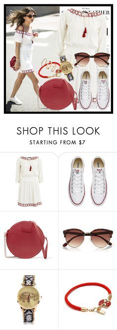 """89. Boho"" by diana97-i ❤ liked on Polyvore featuring Converse, Dolce&Gabbana, River Island, boho, Bohemian, BohoStyle, whiteandred and bohodress"
