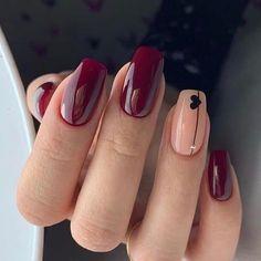 new years nails acrylic ~ new years nails ; new years nails acrylic ; new years nails gel ; new years nails glitter ; new years nails dip powder ; new years nails design ; new years nails short ; new years nails coffin Cute Acrylic Nails, Gel Nail Art, Nail Polish, Soft Gel Nails, Nail Nail, Burgundy Nail Designs, Burgundy Nails, Neutral Nail Designs, Neutral Nails