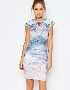Ted+Baker+Dreamscape+Print+Jersey+Shift+Dress