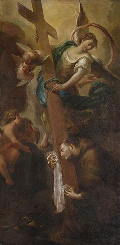 Saint Peter of Alcantara in Ecstasy / El éxtasis de San Pedro de Alcántara // ca. 1800 // Johann Jakob Dorner the Elder // Alte Pinakothek // #cross #cruz