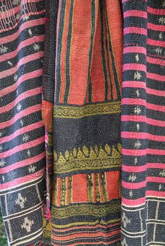 Who doesn't love vintage indian textiles... coveting this too! From Mela&Roam...