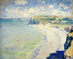 """La Plage de Pourville"" (Claude Monet, 1882, oil on canvas). In the Muzeum Narodowe w Poznaniu, Poznań [Posen], Poland."