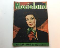 Movieland Magazine February 1944 - Cover Lana Turner - Vintage Movie Magazine - Inside Jessica Jones & Robert Walker by BagBagSydVintage on Etsy