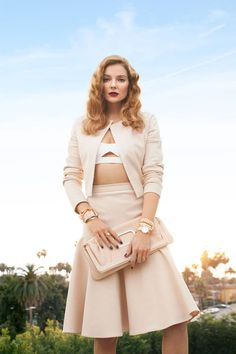 Carolina Herrera jacket and skirt & Salvatore Ferragamo top and bag | The New Neutrals