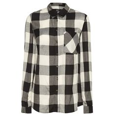 košile, levná košile, dámská košile, kostkovaná košile, černobílá košile, košile s dlouhým rukávem : F&F
