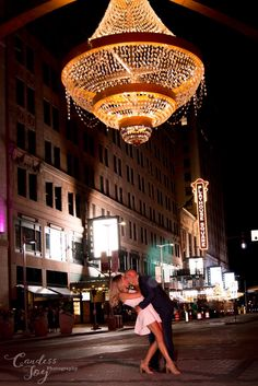 Downtown Cleveland engagement picture. #dip #kiss #street #photography #photoshoot