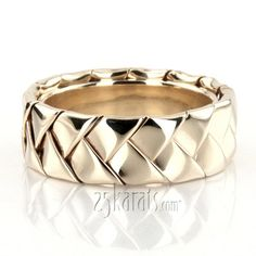 woven gold wedding ring