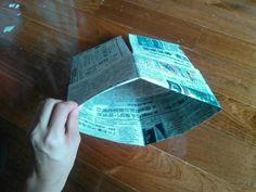 【簡単20秒】新聞紙でゴミ箱の内袋を作ろう!もうレジ袋には戻れない♪ | 片付けブログ「ずぼらイズ」|子育て中のずぼら主婦による汚部屋お片付けの記録 Home Deco, House, Home, Home_decor, Homes, Houses