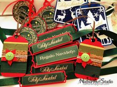Etiquetas de Navidad. christmas tags.