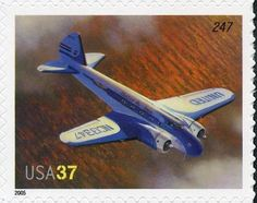 Stamp: Model 247 (United States of America) (American Advances in Aviation) Mi:US 3944,Sn:US 3916,Yt:US 3670