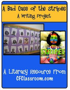 """""""Bad Case of the Stripes"""" writing project from the Clutter Free Classroom"""