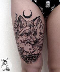 fox + moth + moon