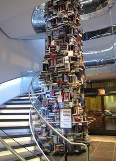 What Should We Do With All of These Leftover Books? (Tower of Books)