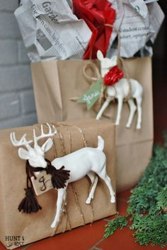 Wrapping Your Gift with a Gift: 10 tips and ideas on wrapping your gifts this holiday season! www.huntandhost.net