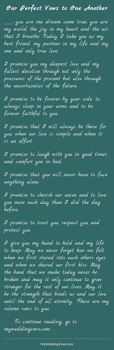 How To Write Your Own Wedding Vows The Board D Pinterest Weddings And