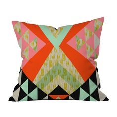 Tribal Quilt Throw Pillow