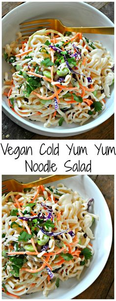 Vegan Cold Yum Yum Noodle Salad - Rabbit and Wolves
