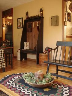 primitive home decor | Welcome to our colonial and primitive inspired Christmas home!
