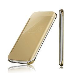 For Galaxy S7 Edge Case Luxury Mirror Clear View Filp Cover Case for Samsung Galaxy s6 edge Wallet Flip Mirror Case Cover for s7