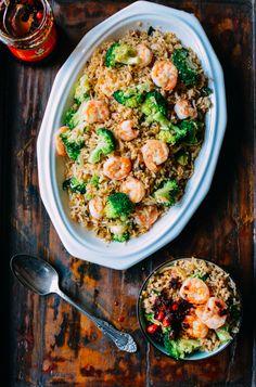 Shrimp Fried Rice w/ Thai Basil, by thewoksoflife.com