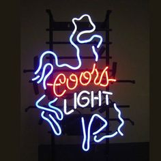 Coors Light Cowboys Glass Neon Light Sign Beer Bar Custom Made Neon Beer Signs, Neon Light Signs, Photo Wall Collage, Picture Wall, Western Photography, Sign Display, Coors Light, Light Beer, Beer Bar
