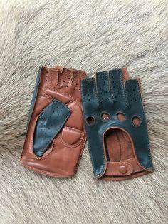Women's Driving Leather Gloves - Fingerless Gloves - Fitness Gloves - Half finger gloves