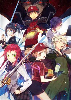 Day 45 - Favorite anime Ending: Hataraku Maou-sama! Ending Gekka by nano. Manga Art, Manga Anime, Anime Art, Scott Pilgrim, Manhwa, Devil Part Timer, Otaku, Aho Girl, Sakura Card Captor