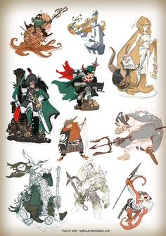 E. Fernandez ✤ || CHARACTER DESIGN REFERENCES | キャラクターデザイン • Find more at…
