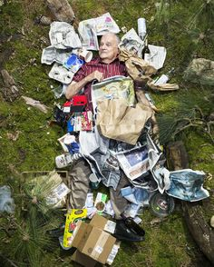 2/15 people in garbage photos via slate zine: http://www.slate.com/blogs/behold/2014/07/08/gregg_segal_photographs_people_with_a_week_s_worth_of_their_trash_in_his.html