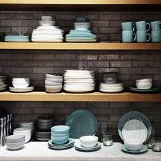 shopping for new office furniture but these caught my eye on the way out. such & 46 PIECE BLACK WHITE Toile Dinnerware SET for 8 French   Black ...