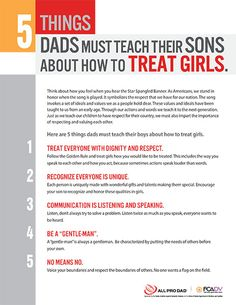 At All Pro Dad we are committed to building strong families. That is why we partnered with the Florida Coalition Against Domestic Violence. We think it is important to encourage dads to teach their sons how to treat a girl.