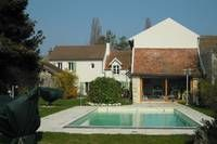 Price : 560.000 € - House with 5 bedrooms and great garden with a swimming pool - France - Paris - Arnouville- (78790)