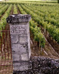 French vineyard gatepost ...