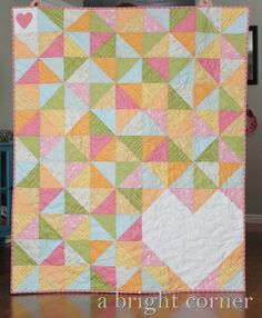 I've been into what variation you can get out of triangles for a quilt. Sweet Talk quilt & easy pattern