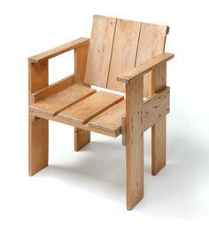Pine Wood So Called Crate Chair Design Gerrit Rietveld