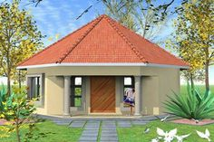 Cute Round House Plans, Dream House Plans, Modern House Plans, Modern House Design, House Floor Plans, Hut House, Dome House, 1 Bedroom House Plans, Morden House
