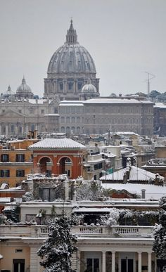 Roma sotto la neve, Italy (by agennari on Flickr)
