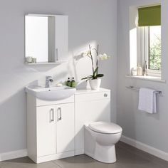 Clean crisp and versatile our Ardenno gloss white range of furniture is a great choice for creating a bright and airy bathroom with heaps of storage space. Toilet unit & WC set by Clever Bathroom Storage, Freestanding Bathroom Furniture, Glass Bathroom Shelves, Glass Bathroom, Bathroom Units, Small Bathroom, Amazing Bathrooms, Bathroom Furniture Vanity, Bathroom Decor
