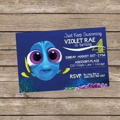 Finding Dory with Baby Dory Birthday Invite by TrishaTreeDesigns on Etsy