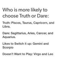 Truth Or Dare Zodiac