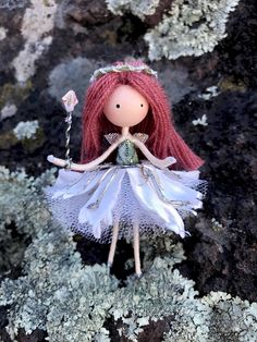 Excited to share the latest addition to my #etsy shop: Green Silver Flower Fairy Doll, Ballerina Princess Fairy Doll, Dancer Fairy Bendy Doll, Nature Lover Gift, Miniature Fairy Doll, Tutu Skirt