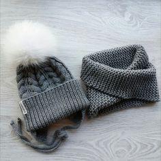 вязаная шапка с ушками с помпоном; снуд; snood, knit cable hat