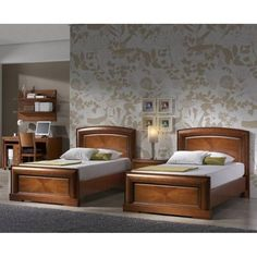 With good shine, finish and style this wooden bed set is ideal for your kids as they don't have any sharp edges and have enough space for any child. Buy this Bed Set only for Bed Headboard Design, Bedroom Bed Design, Bedroom Furniture Design, Home Room Design, Bed Furniture, Bedroom Sets, Home Decor Bedroom, Kids Bed Design, Wood Bed Design