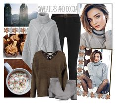 """""""Sweaters And Cocoa.♡"""" by littlemisshamer ❤ liked on Polyvore featuring Kerr®, Hudson Jeans, Frame, Lands' End, Boohoo, Yves Saint Laurent and Miss KG"""