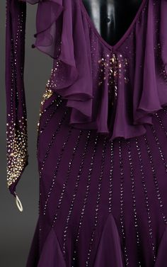 Dance Outfits, Dance Dresses, Ballroom Dress, Skating Dresses, Gold Accents, Leotards, Plum, Smooth, Formal Dresses