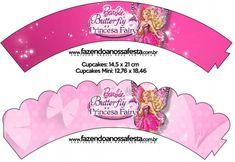Barbie ve Kelebek Temalı Ücretsiz Parti Seti - Neşeli Süs Evim - Ücretsiz Doğum Günü Süsleri Barbie Party, Kit, Butterfly, Cupcakes, Barbie Stuff, Sweet Like Candy, Party, Birthday, Cupcake Cakes