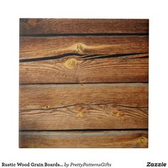 Rustic Wood Grain Boards Design Country Gifts Tile