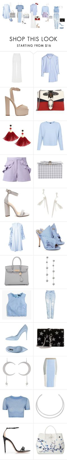 """""""female vs black"""" by yusufbudiman on Polyvore featuring Alexis Mabille, Vetements, Giuseppe Zanotti, Gucci, Shashi, Elie Saab, Edie Parker, Alex Monroe, Reemami and N°21"""